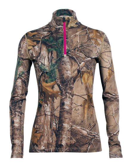 Ika Long Sleeve Half Zip Real Tree
