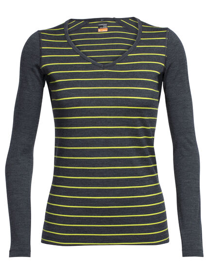 Oasis Long Sleeve V Stripe