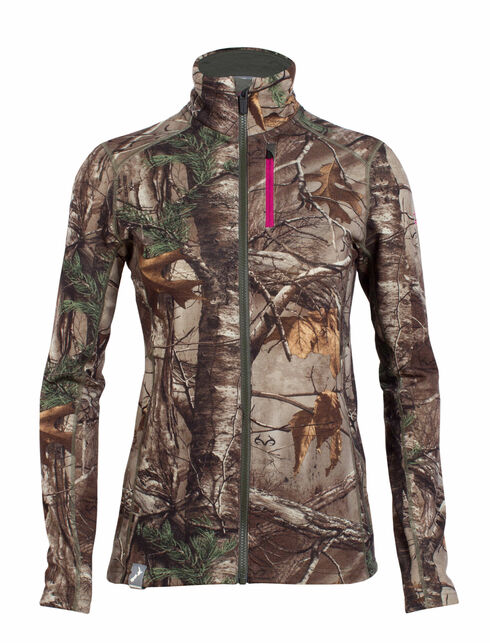 RealFLEECE Cascade Long Sleeve Zip Real Tree