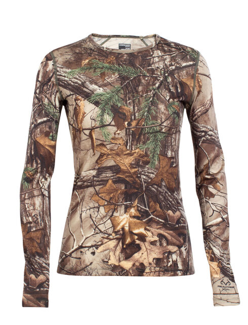 Ika Long Sleeve Crewe Real Tree
