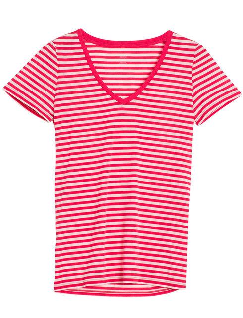 Tech Lite Short Sleeve V Stripe
