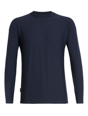 旅 TABI Micro-Terry Laid-Back Long Sleeve Crewe