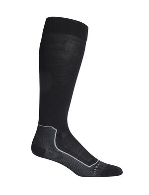 Womens Merino Ski+ Ultralight Over the Calf Socks Stretchy and supportive merino socks for technical performance on snow, our minimally cushioned Ski+ Ultralight Over the Calf socks are durable, breathable, and comfortable, with anatomical support in key areas.