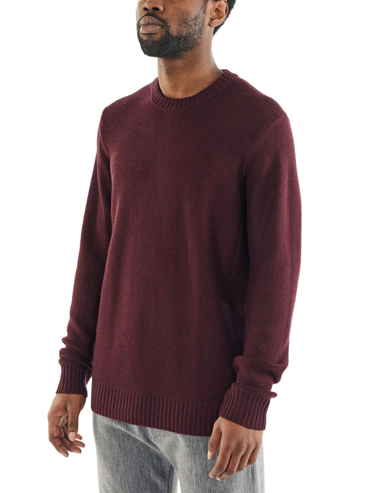 Icebreaker Merino Mens Mens Waypoint Crewe Sweater Long Sleeve Athletic-Sweaters