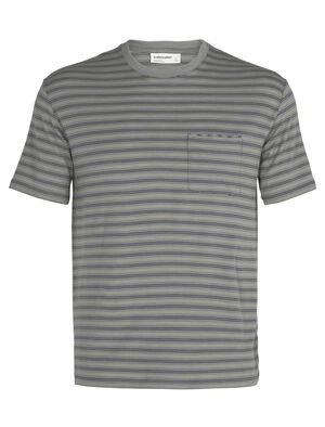 Mens Merino 150 Short Sleeve Pocket Crewe Stripe T-Shirt A classic and indispensable pocket tee made even better with the natural benefits of merino wool, the 150 Short Sleeve Pocket Crewe Stripe is an everyday wardrobe essential.