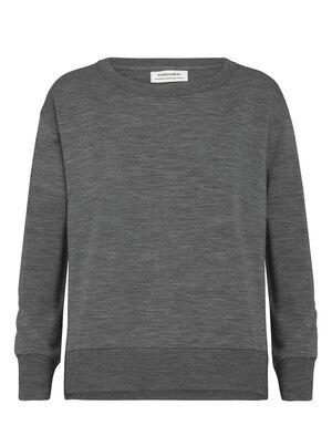 Damen RealFleece® Merino Rundhalspullover Ein ultrakomfortabler Pullover für Wärme und Style, der RealFLEECE® Hybrid Rundhalspullover kombiniert weiches Merino RealFLEECE® mit einer klassischen Sweatshirt-Silhouette.