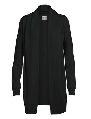 女款 Zoya长袖开襟罩衫 Zoya长袖开襟罩衫是一款可在寒冷季节有效保暖的针织外套,带来轻松休闲的风格和格外舒适的穿着感,适合白天外出忙碌或夜晚在家放松时穿着。Zoya长袖开襟罩衫采用未经拉绒处理的毛巾布面料,格外舒适保暖。面料中运用了包芯面料纤维,用美丽诺羊毛包裹尼龙芯,在保持柔软亲肤度的同时更加结实耐穿。少量LYCRA®莱卡增加弹性和灵活性。单层翻折式衣领营造围巾般的舒适质感,德尔曼袖和低袖孔设计便于叠搭。罗纹袖口和底边营造经典的针织衫风格,正面插手口袋既可以为双手保暖,也便于携带小件随身物品。