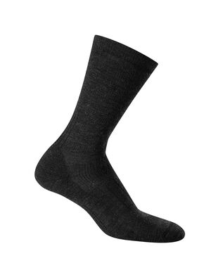 Mens Hike Medium Crew Durable, medium cushioned crew-length men's merino wool socks that are stretchy and odor-resistant, the Hike Medium Crew socks provide cushion and ample breathability for warm-weather day hikes and backpacking trips.
