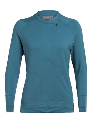 Womens Saige Long Sleeve Half Zip Combining a sleek and modern silhouette with the breathable, odor-resistant benefits of merino wool, the Saige Long Sleeve Half Zip is a premium women's top for traveling in style.