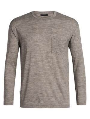 Mens Merino Tech Lite Long Sleeve Pocket Crewe T-Shirt A relaxed-fit tee ideal for everyday living, the Tech Lite Long Sleeve Pocket Crewe features our soft and durable merino jersey corespun fabric.