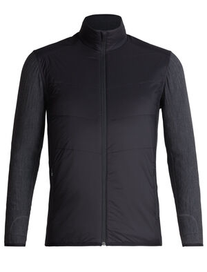 Mens MerinoLOFT™ Descender Hybrid Jacket A highly technical midlayer top ideal for cold-weather training, climbing or skiing, the Descender Hybrid Jacket is a hybrid-construction midlayer that uses strategically-zoned insulation for warmth and protection where you need it most.