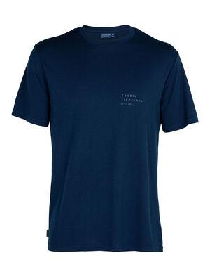T-shirt manches courtes col rond mérinos Nature Dye Sisao Indigo
