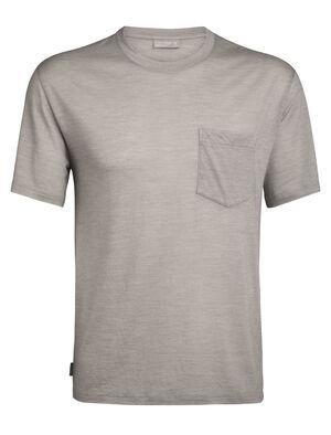 Merino Nature Dye Drayden T-Shirt mit Brusttasche