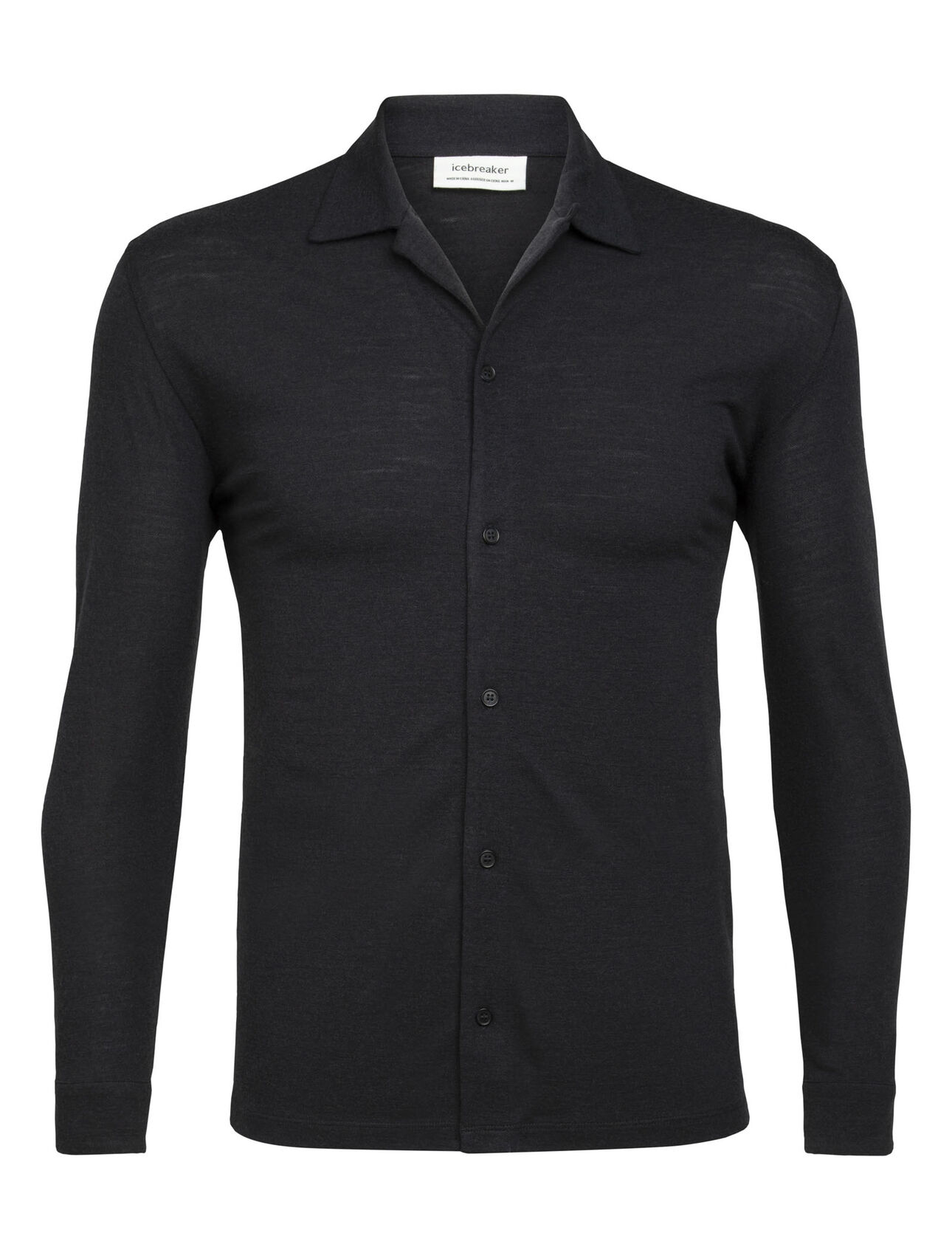 Merino Pique Long Sleeve Shirt