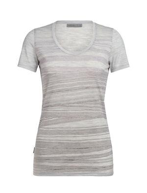 Tech Lite kortärmad t-shirt i merino med djup halsringning 1000 Lines