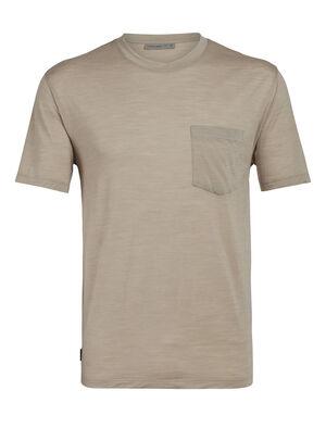 天然印染Drayden短袖圆领上衣(带口袋)