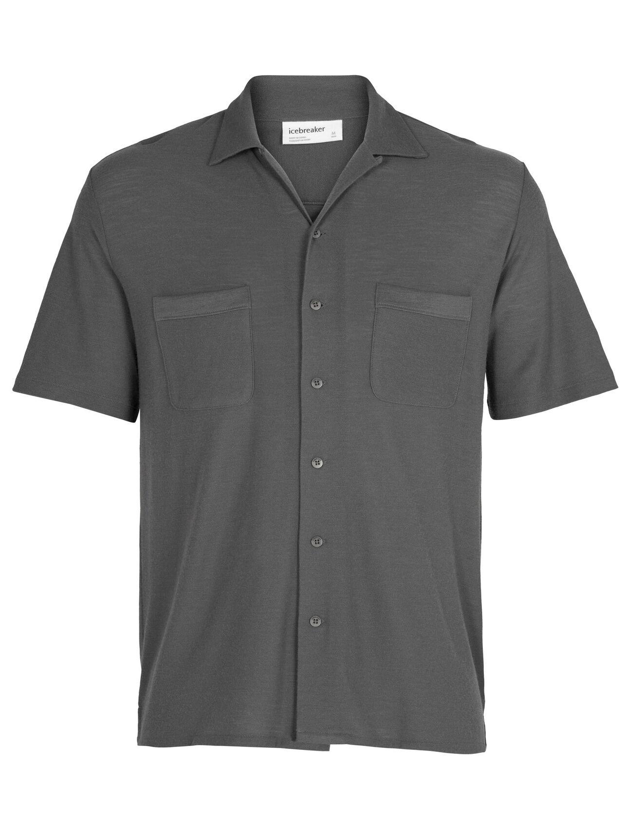 Merino 180 Pique Open Collar Shirt