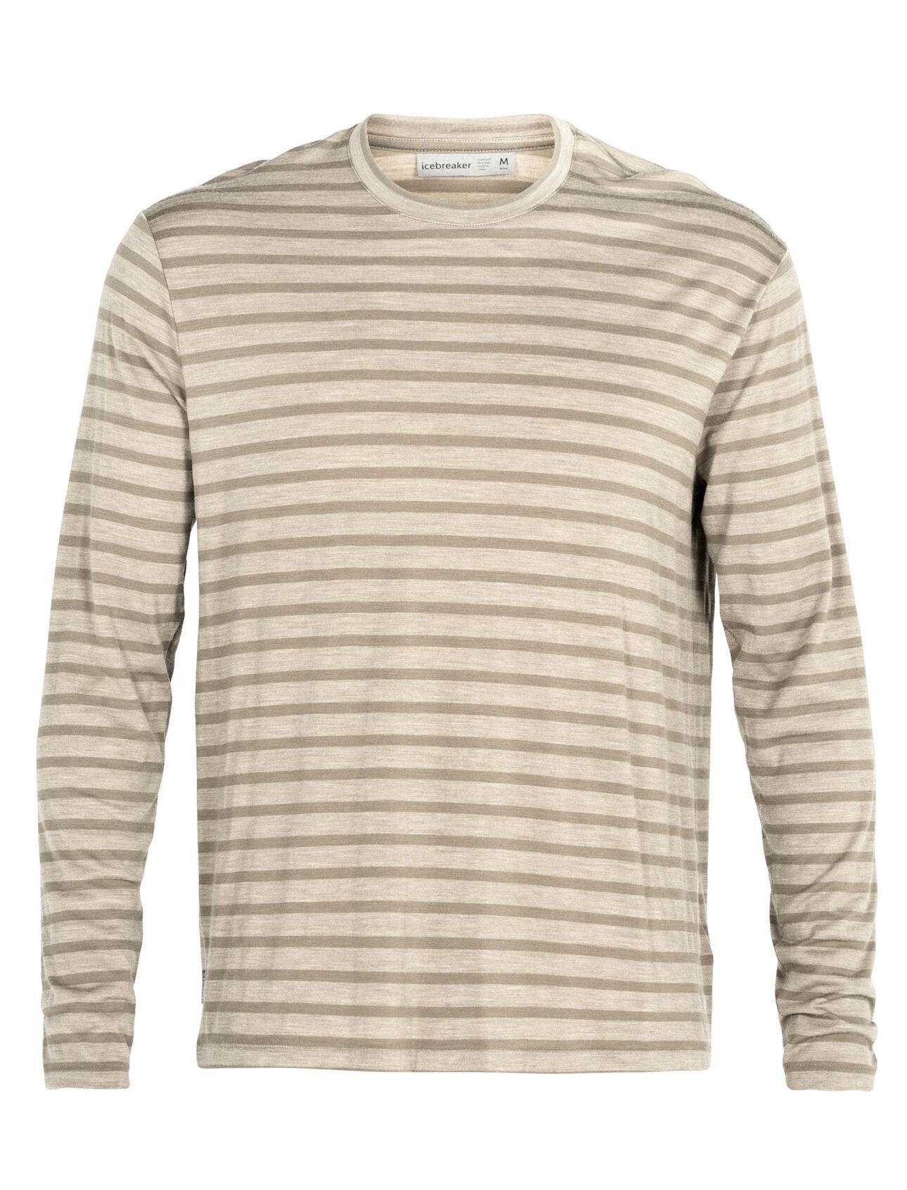 Cool-Lite™ Merino Utility Explore Long Sleeve Crewe Stripe T-Shirt