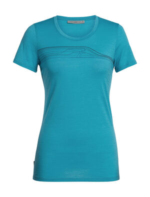 Womens Tech Lite Short Sleeve Low Snow Speedster A lightweight women's short-sleeve T-shirt that makes an ideal base layer or go-to everyday top, the Tech Lite Short Sleeve Low Crewe Snow Speedster features corespun merino wool jersey fabric for durable comfort and performance.