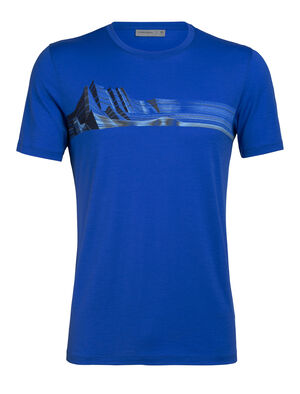 Mens Tech Lite Short Sleeve Crewe Mont Blanc Moiré Our most versatile tech tee, in breathable, odour-resistant merino wool. Artist Andrea Minini captures the peak of Mont Blanc in striking linework.