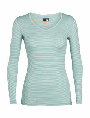 Womens Merino 200 Oasis Long Sleeve V Neck Thermal Top Our versatile 100% merino wool base layer top with a classic V-neck design, the 200 Oasis Long Sleeve V combines casual comfort with technical performance.