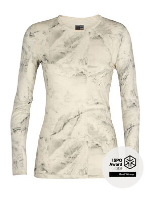 Womens Nature Dye Merino 200 Oasis Long Sleeve Crewe Thermal Top IB Glacier Justin Brice Guariglia, a New York City based artist and photographer known for his work addressing climate change, has partnered with icebreaker. The icebreaker x Justin Brice Guariglia collection features Guariglias remarkable pictures of Greenlands melting glaciers.Inspired by people with purpose, icebreaker provides a platform to raise greater awareness and visibility of the crisis our natural world is facing.  Find out more