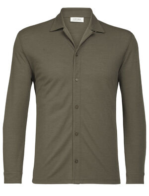 Merino Pique Long Sleeve Shirt