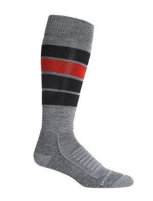 Merino Ski+ Medium Over the Calf Socks Heritage Stripe