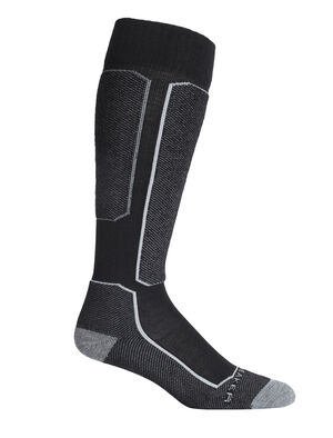 Mens Merino Ski+ Light Over the Calf Socks Stretchy and supportive merino socks for technical performance on snow, our strategically cushioned Ski+ Light Over the Calf socks are durable, breathable, and comfortable, with anatomical support in key areas.