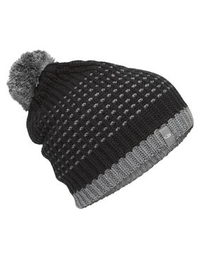 Unisex Merino Affinity Pom Beanie  Made with a sustainable blend of merino wool and organic cotton, our Affinity Pom Beanie provides natural warmth with a soft, 100% merino wool lining for added comfort.