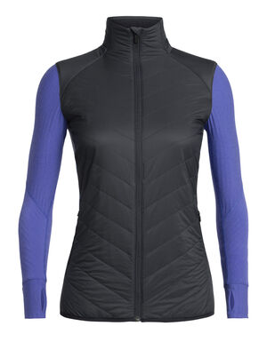 Womens MerinoLOFT™ Descender Hybrid Jacket A highly technical midlayer top ideal for cold-weather training, climbing or skiing, the Descender Hybrid Jacket is a hybrid-construction midlayer that uses strategically-zoned insulation for warmth and protection where you need it most.