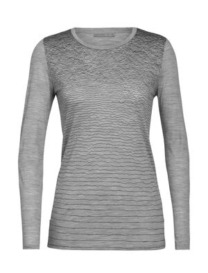 Merino Spector Long Sleeve Crewe T-Shirt Landscape Lines