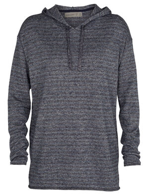 Womens Merino Flaxen Long Sleeve Hooded Pullover Sweater Combining light and airy linen with naturally soft and odor-resistant merino wool, the Flaxen Long Sleeve Hooded Pullover Sweater is a natural take on an old favorite.