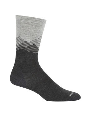 Merino Lifestyle Fine Gauge Crew Socks Mountain Sky