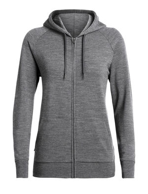 Womens RealFLEECE® Helliers Long Sleeve Zip Hood A classic daily women's hooded sweatshirt made with our merino wool realfleece® fabric, the Helliers Long Sleeve Zip Hood is the perfect hoodie for everyday comfort and travel.