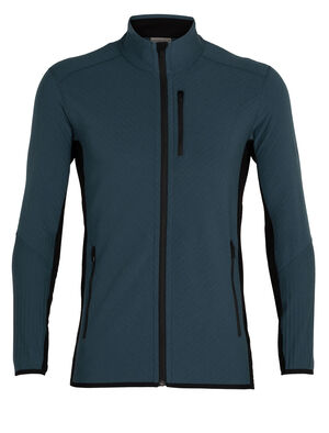 Mens RealFleece™ Merino Descender Long Sleeve Zip Jacket A technical mid layer for cold, aerobic days outside, the Descender Long Sleeve Zip features our merino wool RealFleece™ for premium warmth and breathability.