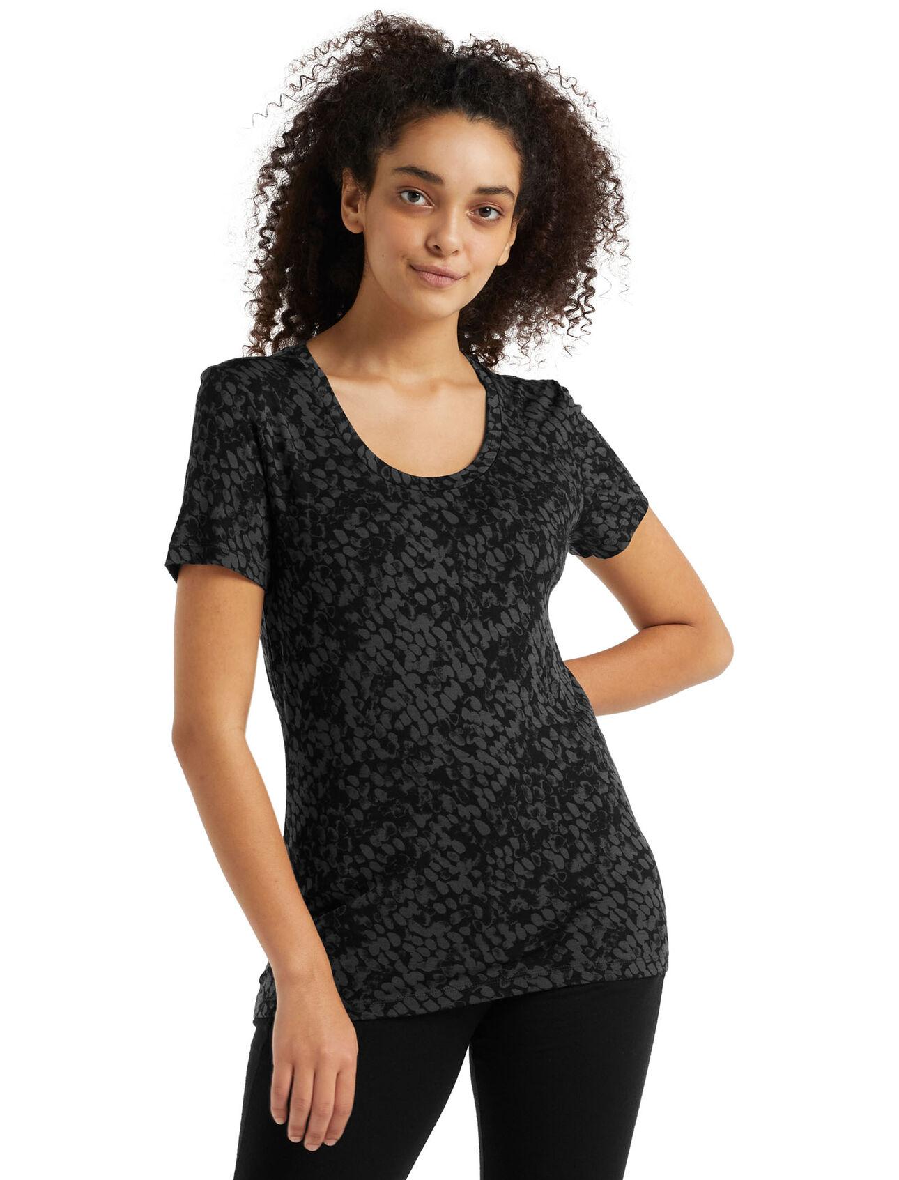 Merino Tech Lite II Short Sleeve Scoop Neck T-Shirt Forest Shadows