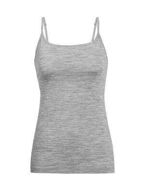 Womens Merino Siren Bra Cami Singlet  An essential everyday camisole made with soft, stretchy, and durable jersey corespun, the Siren Bra Cami features soft, built-in support and a natural feel.