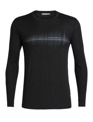 Mens Tech Lite Long Sleeve Crewe Snow Wave Our most versatile men's merino wool T-shirt, the Tech Lite Long Sleeve Crewe Snow Wave is naturally soft, breathable and odor-resistant for comfort on your adventures.