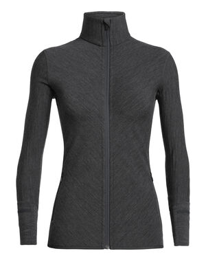 Womens RealFleece™ Merino Descender Long Sleeve Zip Jacket A technical mid layer for cold, aerobic days outside, the Descender Long Sleeve Zip features our merino wool RealFleece™ for premium warmth and breathability.