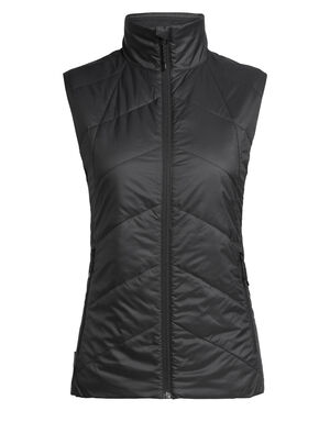 Womens MerinoLOFT™ Helix Vest An insulated women's vest made with sustainable merino wool and recycled materials, the Helix Vest is a warm winter mid layer for everyday versatility made with our innovative 70gm MerinoLOFT™ insulation and 100% recycled polyester face fabric that sheds light precipitation.