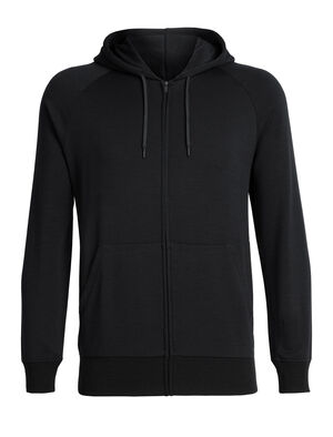 Mens RealFleece™ Merino Helliers Long Sleeve Zip Hood Jacket A classic daily men's hooded sweatshirt made with our merino wool RealFleece™ fabric, the Helliers Long Sleeve Zip Hood is the perfect hoodie for everyday comfort and travel.