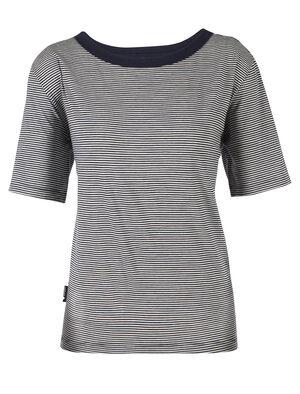 Merino Luxe Lite Laidback Short Sleeve Crewe T-Shirt Stripe