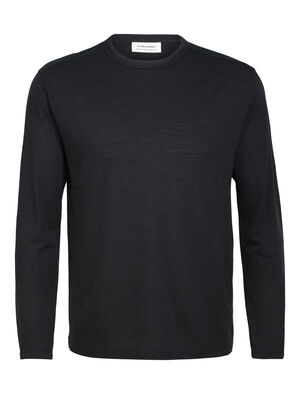Mens Merino Pique Long Sleeve Crewe T-Shirt A lightweight merino top with cool shoulder details, the Merino Pique Long Sleeve Crewe is comfortable, breathable, and designed for everyday versatility.