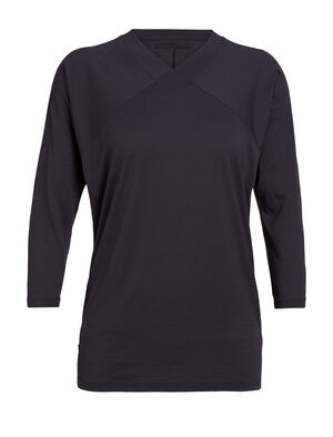 Womens Nature Dye Merino Galen 3/4 Sleeve Top A lightweight women's top that's dyed with natural plant pigments, the nature dye Galen ¾ Sleeve is comfortable and versatile for home or travel.
