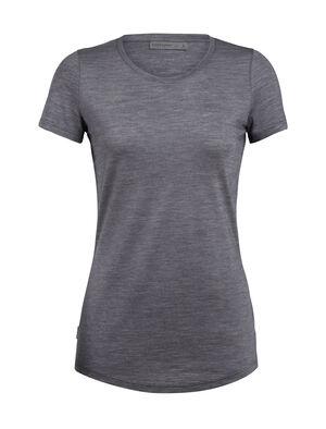 女款 Cool-Lite™ Sphere短袖中低圆领上衣 Sphere短袖中低圆领上衣的领口采用中低圆领设计,以cool-lite™美丽诺羊毛平纹针织面料制成,是一款柔软舒适的女款短袖T恤。