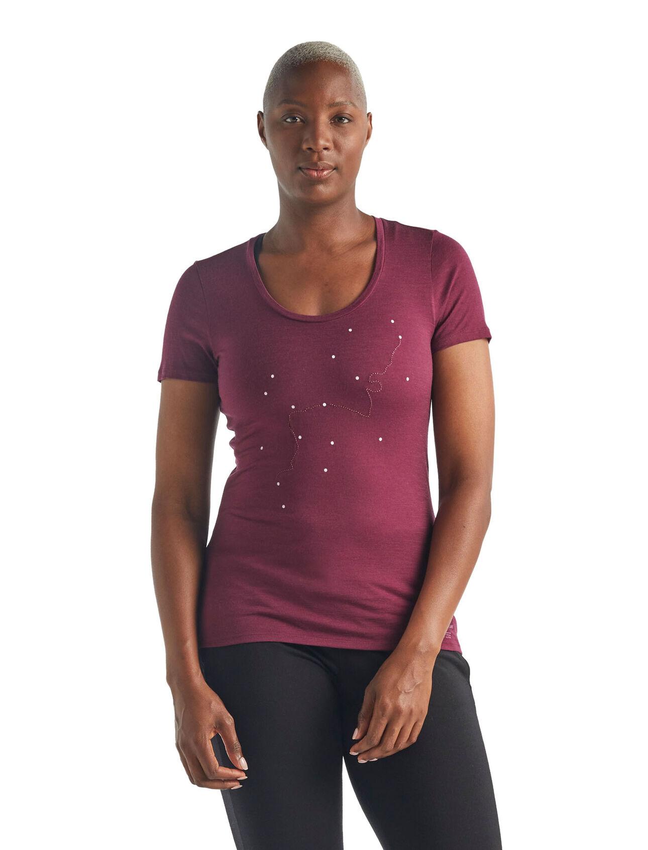 Merino Tech Lite Short Sleeve Scoop Neck T-Shirt Tour du Mont Blanc