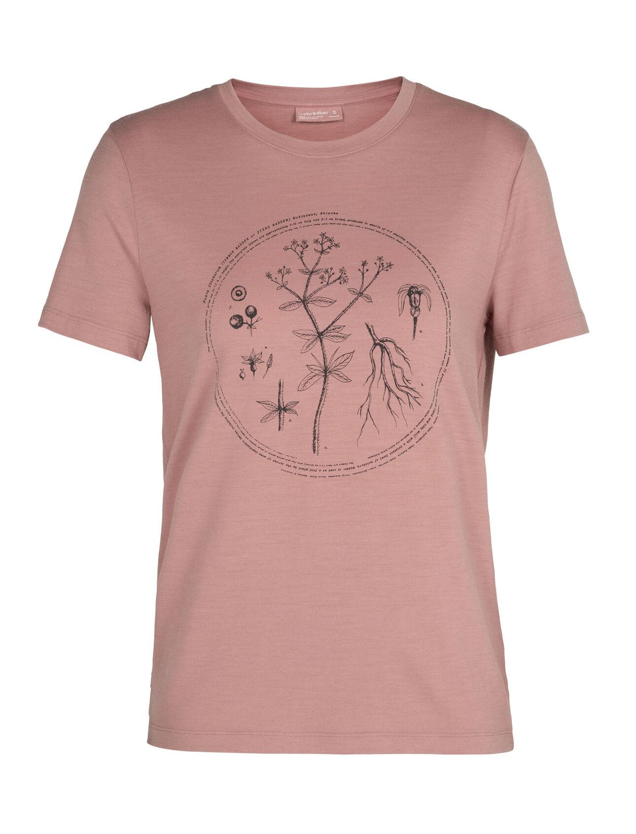 Nature Dye Merino Sisao Short Sleeve Crewe T-Shirt Madder