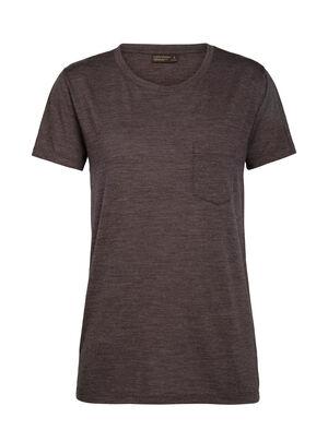 Nature Dye Drayden kortärmad t-shirt med ficka och rund halsringning