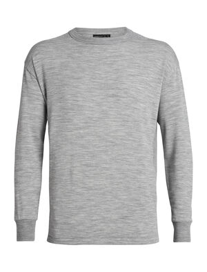 Homme 旅 TABI RealFLEECE® Long Sleeve Crewe A classic and comfortable men's crew neck merino wool pullover top made with our comfortable RealFLEECE® fabric, the RealFLEECE® Long Sleeve Crewe is part of the TABI collection, a collaboration with Japanese apparel house Goldwin.